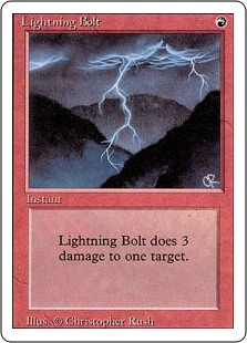 Lightning Bolt - Revised Edition - Matt Plays Magic
