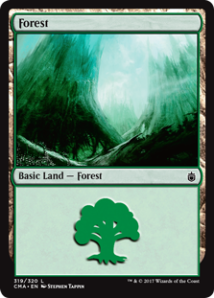 Commander Anthology Forest Stephen Tappin - Matt Plays Magic
