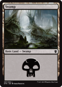 Dragons of Tarkir Swamp Adam Paquette - Matt Plays Magic