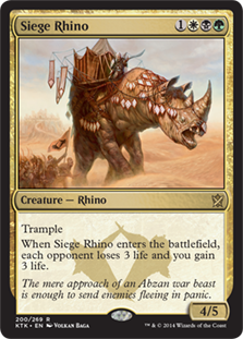 Siege Rhino - Matt Plays Magic